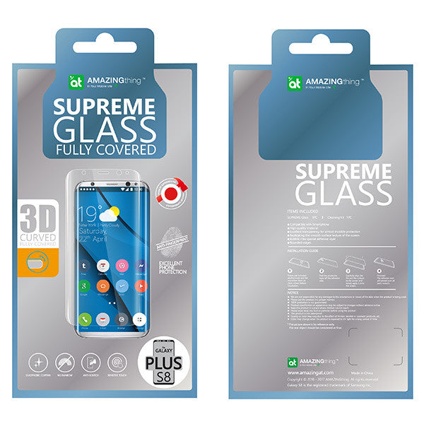 Amazingthing Samsung S8+ 0.33mm 3D Curved Supreme Glass