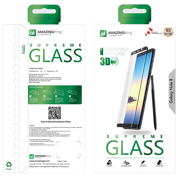 AMAZINGthing Samsung Galaxy Note8 Tempered Glass 0.3Mm