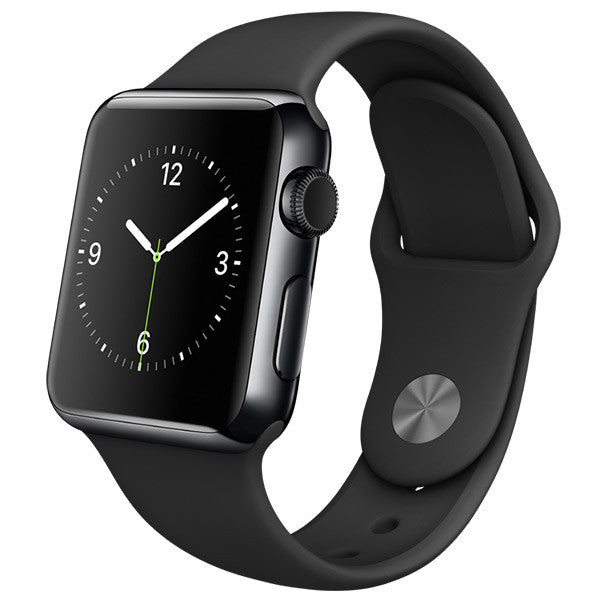 First Generation Apple Watch Stainless Steel Case with Black Sport Band