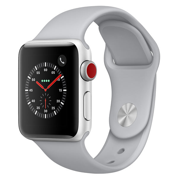 Apple Watch Series 3 Silver Aluminium Case with Fog Sport Band Cellular