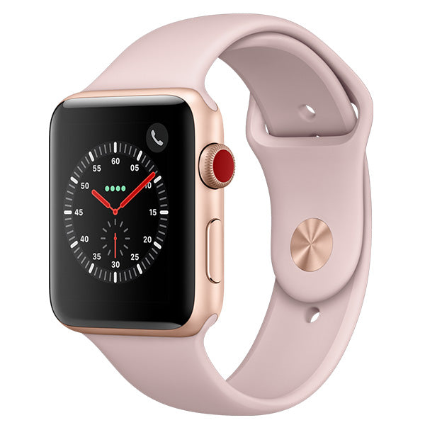 Apple Watch Series 3 Gold Aluminium Case with Pink Sand Sport Band Cellular