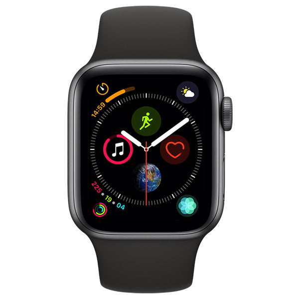 Apple Watch Series 4 Space Grey Aluminium Case With Black Sport Band Cellular