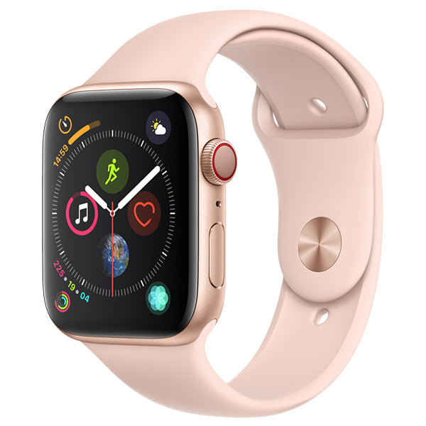 Apple Watch Series 4 Gold Aluminium Case With Pink Sand Sport Band Cellular