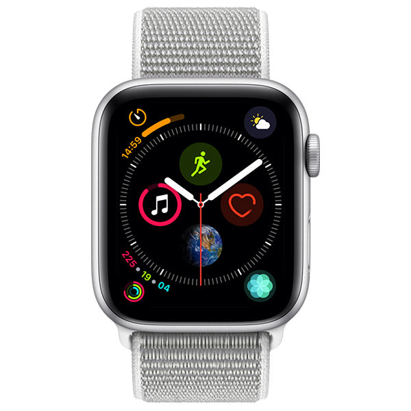 Apple Watch Series 4 Silver Aluminium Case With Seashell Sport Loop Cellular