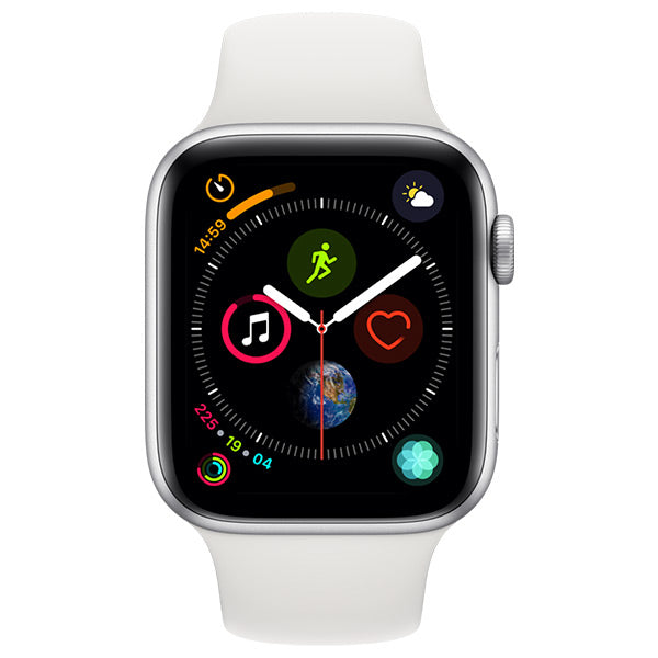 Apple Watch Series 4 Silver Aluminium Case With White Sport Band Cellular