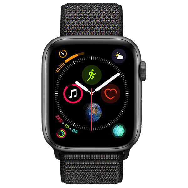 Apple Watch Series 4 Space Grey Aluminium Case With Black Sport Loop Cellular