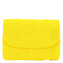 Abstract Beaded Baguette (Yellow)