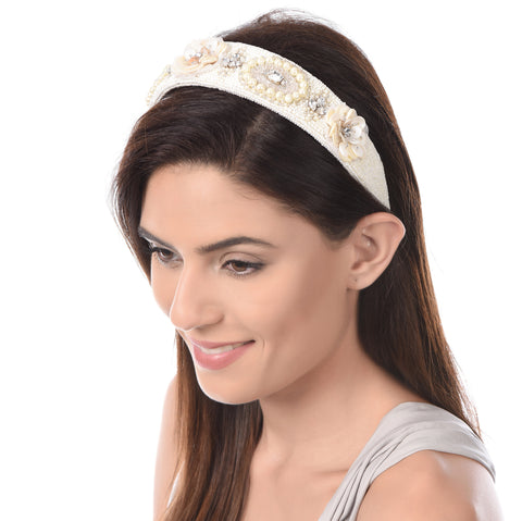 Medallion Olivia Embellished Hairband - Ruche & Hues  - 5