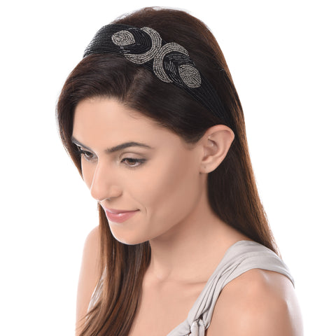 Coral Cora Beaded Hairband - Ruche & Hues  - 5