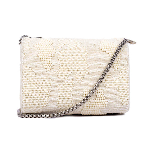 Abstract Beaded Slingbag - Ruche & Hues
