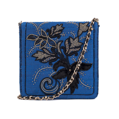 Royal Floral Silk Messenger - Ruche & Hues  - 2