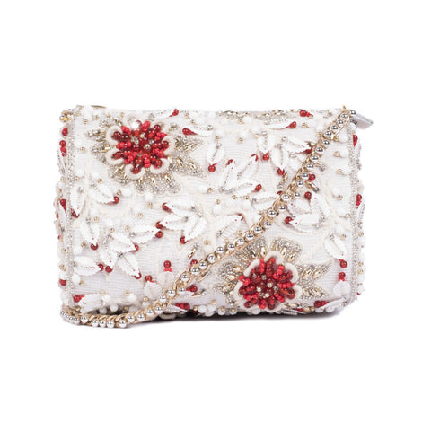 Red Splash Crystal Slingbag - Ruche & Hues