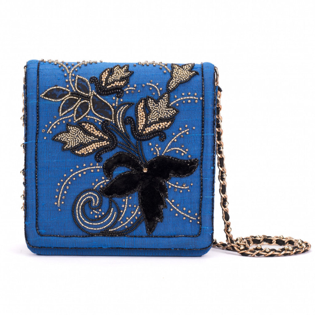 Royal Floral Silk Messenger - Ruche & Hues