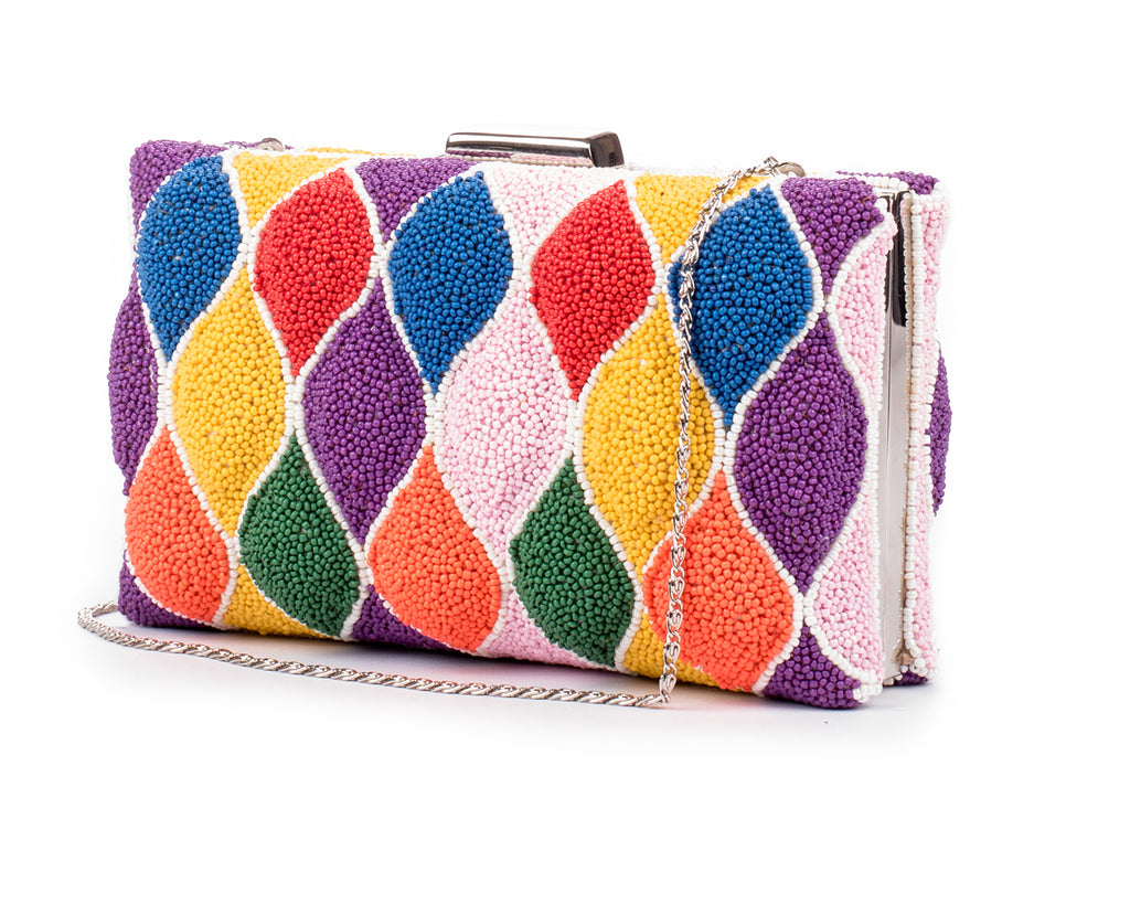 Moonglade beaded clutch (MULTI)