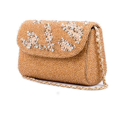 Scintillate Crystal Baguette Bag (GOLD)