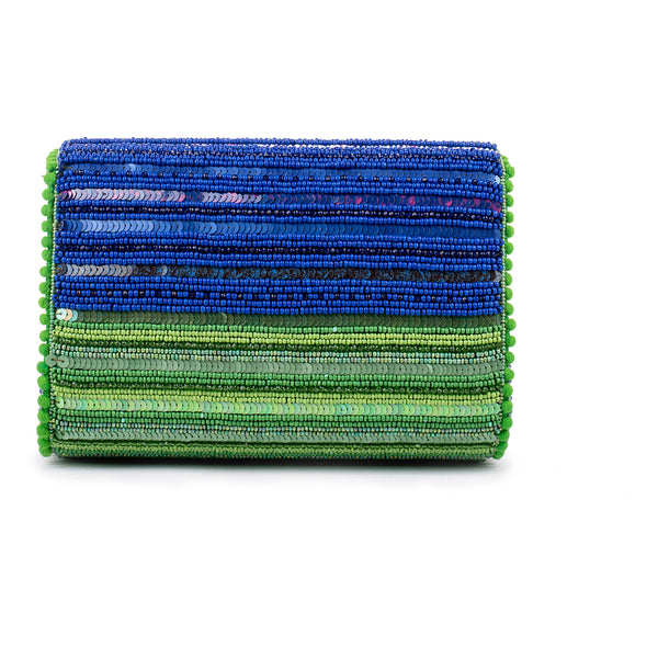 Beamish Crystalised Baguette Bag (BLUE/GREEN)