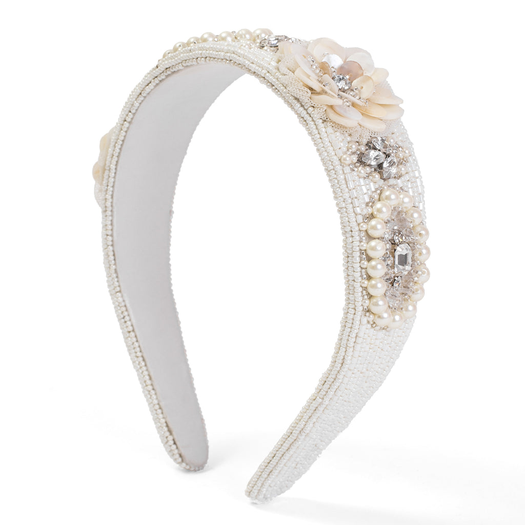 Medallion Olivia Embellished Hairband - Ruche & Hues