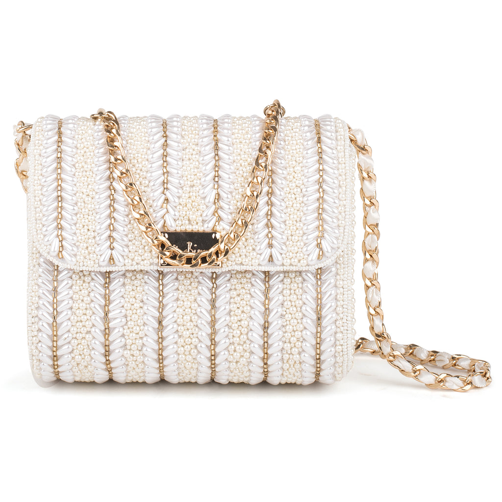 Honey Mother of Pearl Baguette Bag