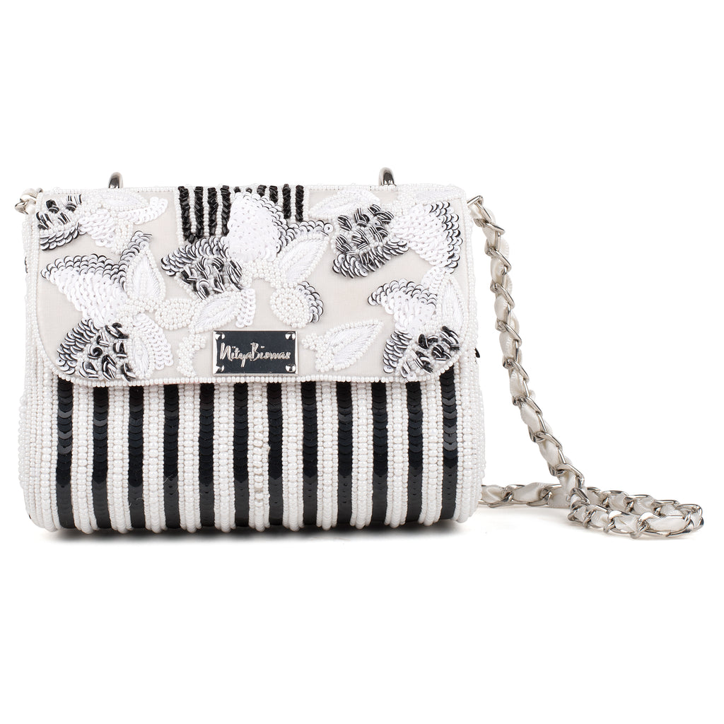 Bloom Embellished Baguette Bag