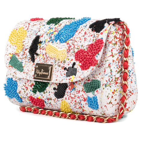 June Embellished Baguette Bag