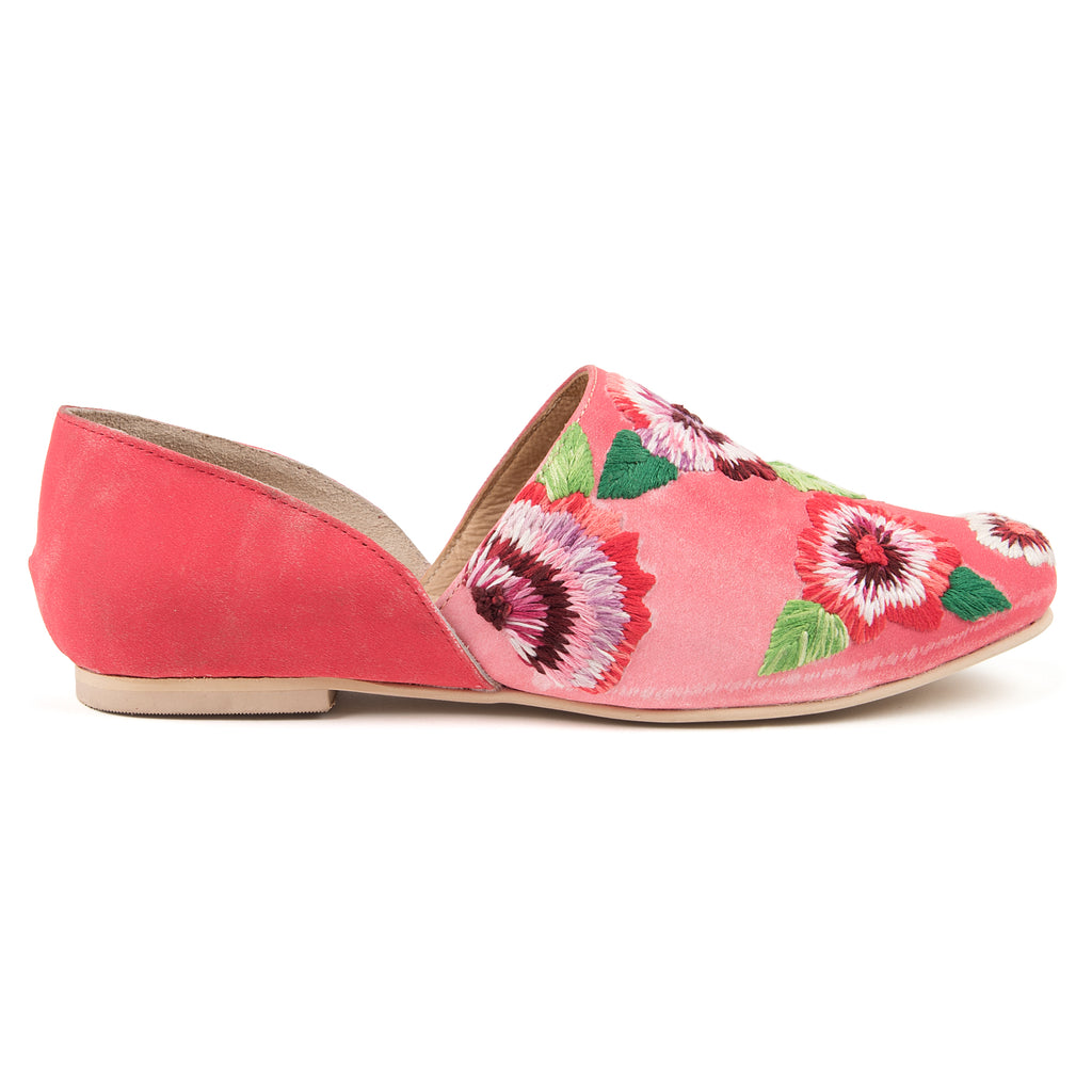 Poppy Embridered Slip Ons