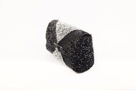 ADENA CRYSTAL EMBELLISHED BAGUETTE BAG (BLACK)