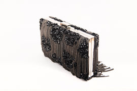 CHASCA FRINGED CLUTCH (BLACK)