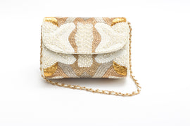 Gabriella Crystal Beaded Baguette (Ivory)