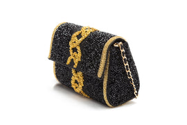 Zelda Crystal Baguette (Black/Gold)