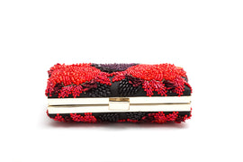 Gloria Crystal Clutch (Red/Purple)
