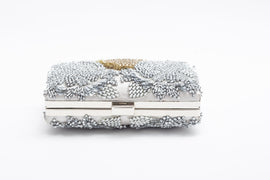Gloria Crystal Clutch (Gold/Silver)