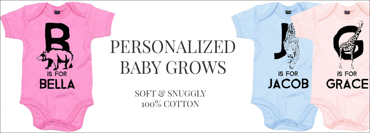 Personalized baby grows