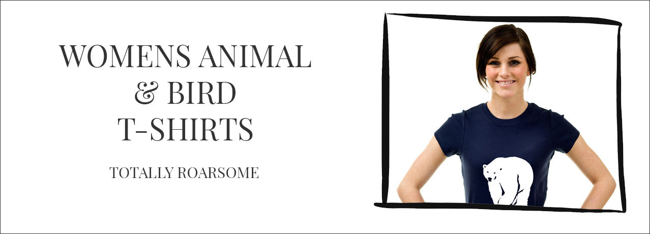 Womens animal and bird t-shirts