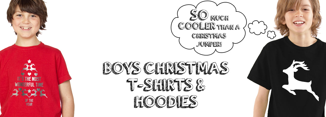 Boys Christmas T-Shirts & Hoodies / Jumpers