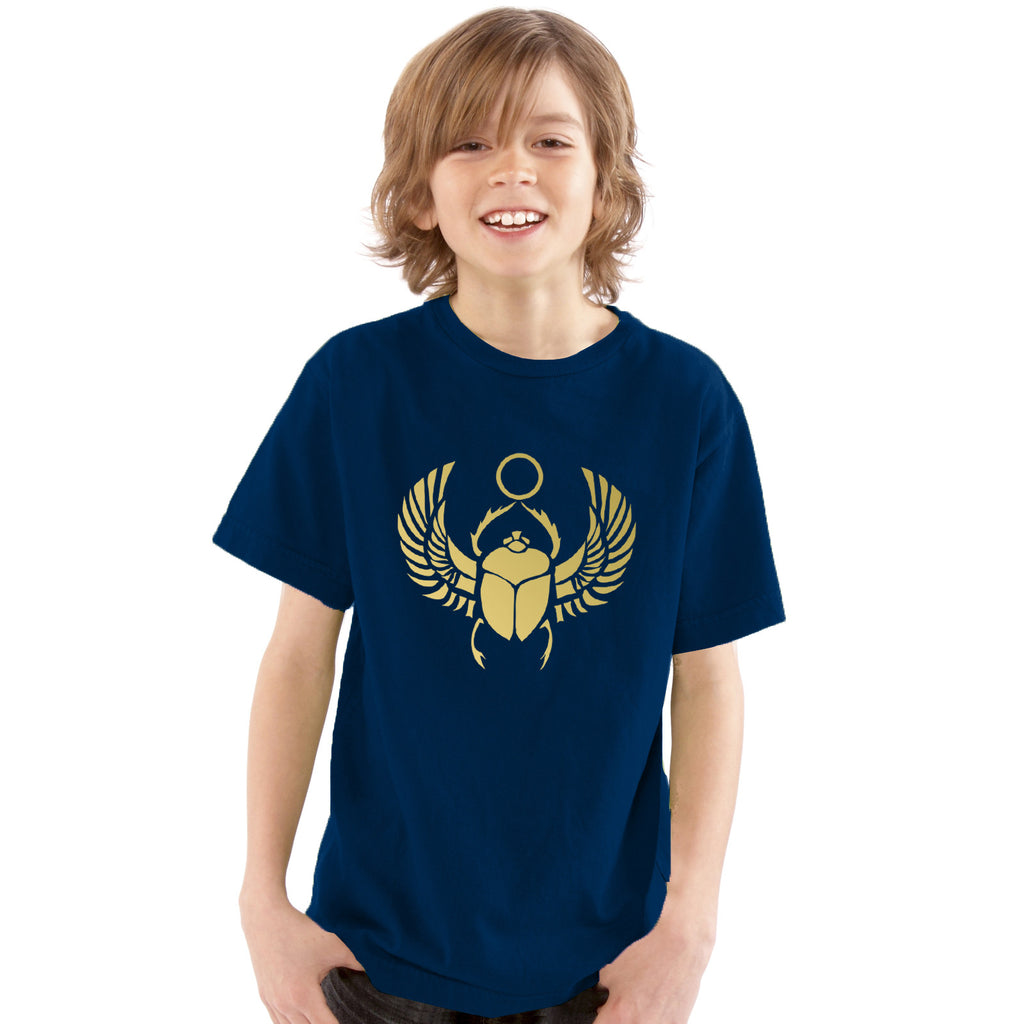 Boys Ancient Egyptian Scarab T-Shirt - Tiger Prints