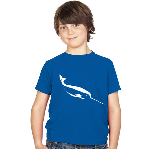 Boys Narwhal T-Shirt 3-4 / Blue by Tiger Prints UK  - 1