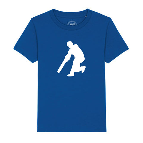 Boys Cricket T-Shirt 3-4 / Blue by Tiger Prints UK  - 12