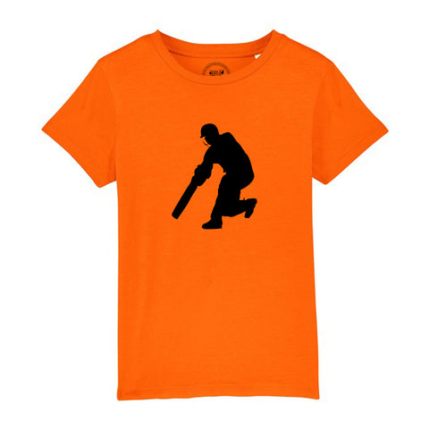 Boys Cricket T-Shirt 3-4 / Orange by Tiger Prints UK  - 7
