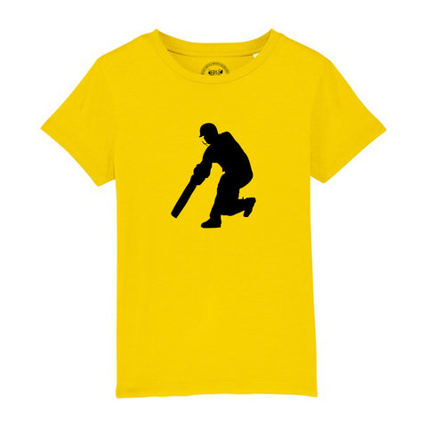 Boys Cricket T-Shirt 3-4 / Yellow by Tiger Prints UK  - 3