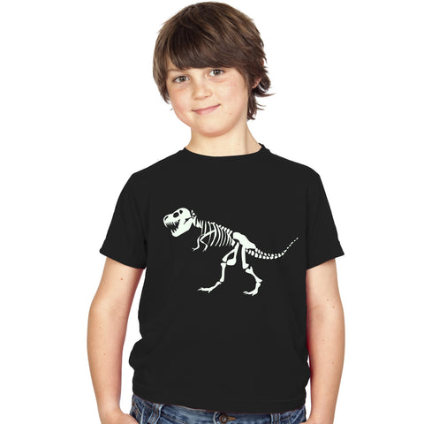 Boys T-Rex Dinosaur Skeleton T-Shirt - Tiger Prints