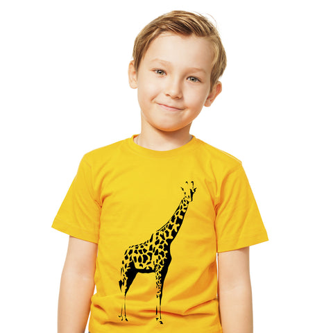 Boys Giraffe T-Shirt - Tiger Prints