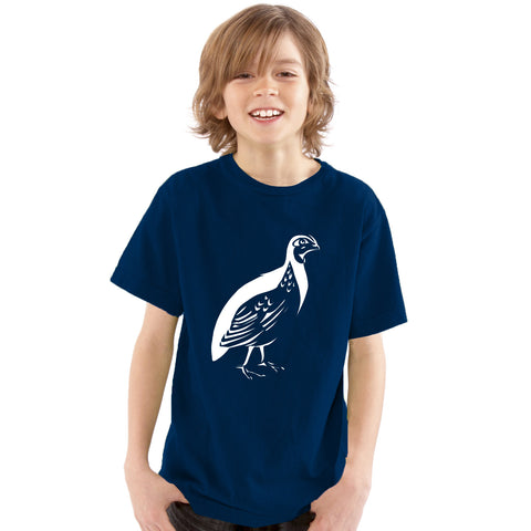 Boys Quail Bird T-Shirt - Tiger Prints