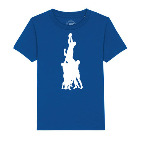 Boys Rugby T-Shirt with Line Out Design 3-4 / Blue by Tiger Prints UK  - 4