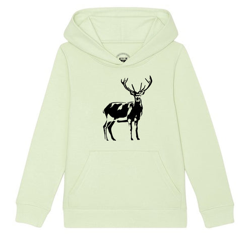 Boys Stag / Deer T-Shirt 3-4 / Grey by Tiger Prints UK  - 2