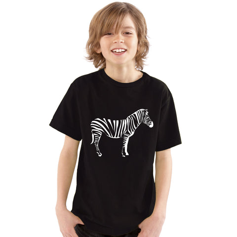 Boys Zebra T-Shirt - Tiger Prints