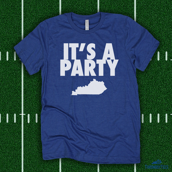 It's A Party Kentucky State - blue tee