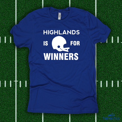 Highlands is for Winners - blue tee