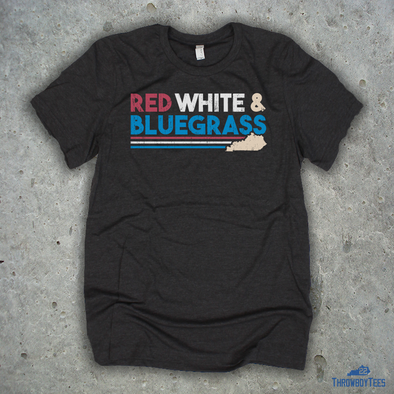 Red White & Bluegrass - Grey Tee