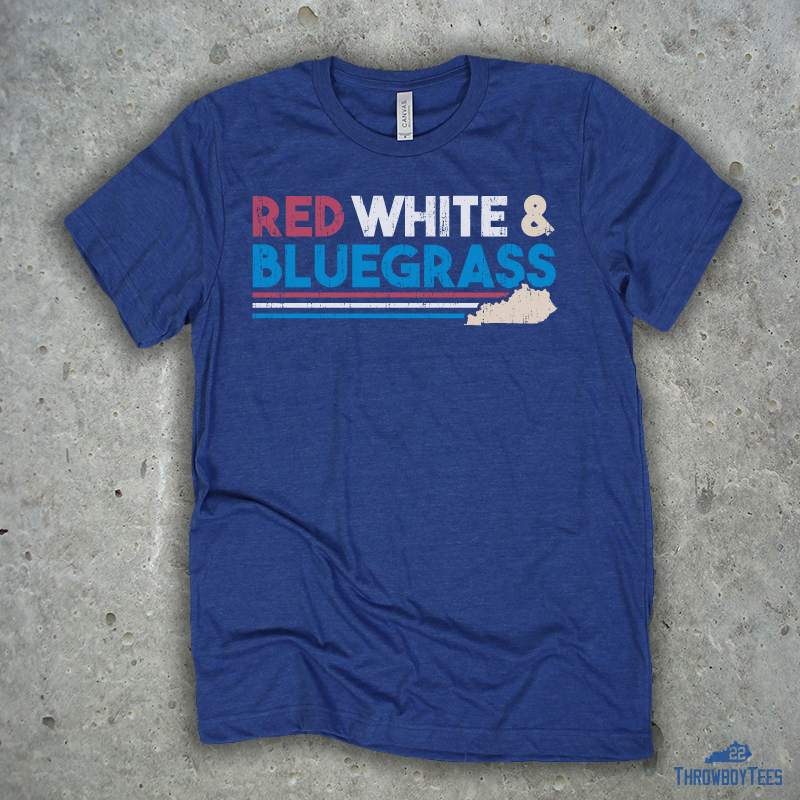 Red White & Bluegrass - Blue Tee