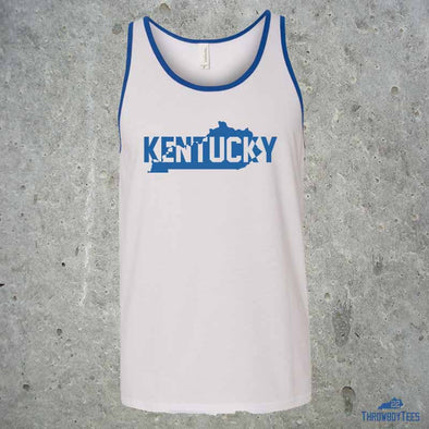 Kentucky State Text - White Tank